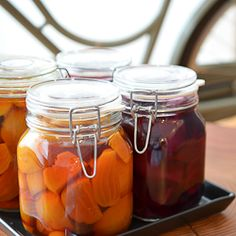 Gingered Pickled Baby Beets