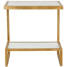 Safavieh Treasures Kennedy Gold/ White Top Accent Table