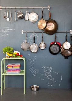 Plumbing Pipe for Pot Storage | Click Pic for 20 DIY Kitchen Storage Ideas for Small Spaces | Easy Kitchen Organization Ideas
