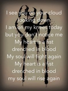 Papa Roach - My Heart Is a Fist Lyrics-one of my many favs from them Rock Lyric Quotes, Song Quotes, Music Love, Music Is Life, Love Songs, Music Lyrics, Music Songs, Music Stuff, Avenged Sevenfold Lyrics