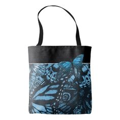 Grunge Butterfly Art tote bag.