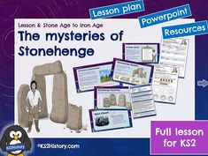 A full lesson for about Stonehenge, including a detailed lesson plan, Powerpoint and pupil resource sheets (including instructions to make a biscuit he. Primary History, Teaching History, Teaching Resources, Stone Age Boy, Lesson Plan Pdf, Powerpoint Lesson, History Classroom, Iron Age, Stonehenge