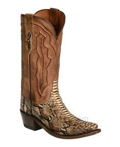 Women's Handcrafted 1883 Backcut Python Cowgirl Boots Snip Toe by Lucchese - Boot - WesternWear.com