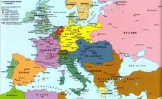 Europa kaart 1871 - Sectie geschiedenis Sint-Janslyceum