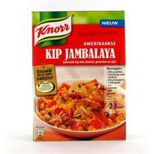 9-6-'13 Knorr Wereldgerechten kip Jambalaya, new: 6/10 taste: 5/10 pack: 4/10 overall score 5,4/10 | product info online: slecht, site down
