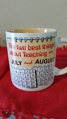 Check out this item in my Etsy shop https://www.etsy.com/listing/273696976/teacher-theme-mug-the-two-best-things