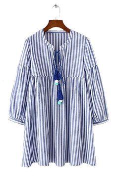 Mona Striped Dress