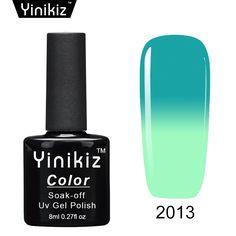 1.19$  Watch more here - Yinikiz Thermal Nail Gel Polish Temperature Changing Color UV Gel Nail Polish Chameleon Color Soak Off Led UV Nail Gel Lacquer   #buyininternet