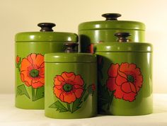 cool kitchen canisters on pinterest vintage canisters