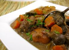 Slow-cooked meat and vegetable stew