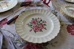 17 Piece Rose China Set Kraftex China Bouquet Dinnerware Set