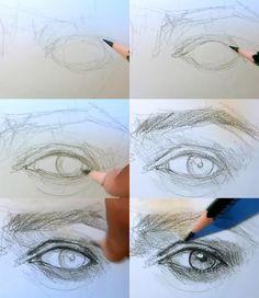how to draw eye 3/4 view. Repinned from: /www.pinterest.com/vashandrem2002/