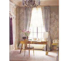 Elle Decor - September 2009 Aerin Lauder's handpainted Gracie wallpaper