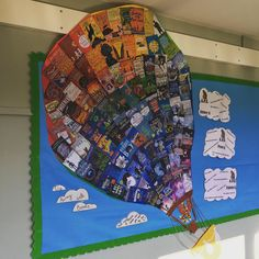Top children book covers in design of hot air balloon for reading display. Book Corner Classroom, Year 6 Classroom, Classroom Ideas, School Displays, Library Displays, Classroom Displays, Book Corner Display, Reading Display, Children's Library