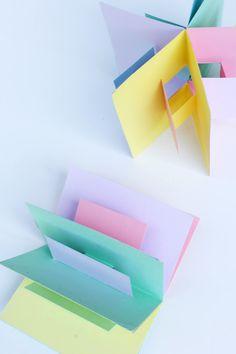 simple pop up book tutorial •|• Book Art: 3D Pop Up Book, April 7, 2014 by Ana Dziengel • BabbleDabbleDo.com