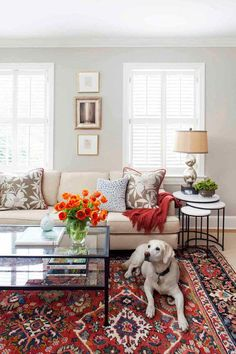 would this wall color go with the rest of our house? love beautiful wall color, especially paired with the sofa color which ties in the tans May want to tie in the red but much less