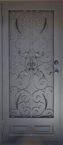 Toulouse & Escher - Powder Coat Silver with Black Perf (screen) wrought iron ... Pezcame.Com