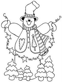 Printable Christmas Coloring Pages for Kids Christmas Colors, Christmas Art, Snowman Quilt, Coloring Books, Colouring Pages, Coloring Sheets, Theme Noel, Christmas Coloring Pages, Christmas Embroidery