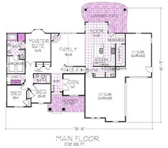 1000 Images About 3 Bedroom Rambler Plans On Pinterest House Plans Floor Plans And Master Suite