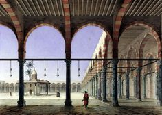 Mosque of Amr ibn al-As 1818 By Pascal Xavier Coste - French, 1787-1879