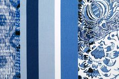 Britex Fabrics -  Midweight Floral & Ikat Stretch Cotton (Made in Italy) - Stretch - Cotton - Fabric