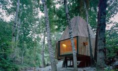 Wee Studio designed The Treehouse, a pair of prefab timber huts located at the foot of Mount Wuling in Beijing.