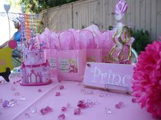personalized princess goodie bags and prize table