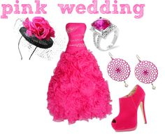 """pink wedding"" by princess-kirstin ❤ liked on Polyvore"