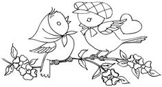love birds #embroidery #pattern