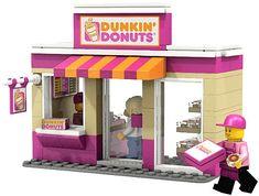 LEGO City Dunkin Donuts - http://thebrickblogger.com/2012/09/lego-city-mini-shops/
