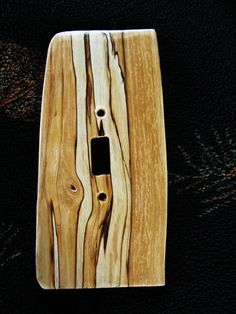 cool wood switch plate