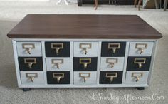 My Favorite Makeover ~ {A Card Catalog} - A Sunday Afternoon