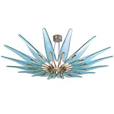 A Rare Large Chandelier by Max Ingrand for Fontana Arte, Italy circa 1954