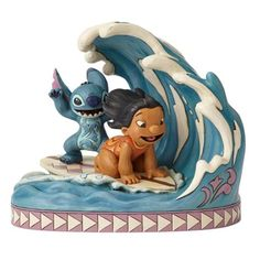 Disney Traditions Lilo and Stitch Catch the Wave Statue - Enesco - Lilo & Stitch - Statues at Entertainment Earth