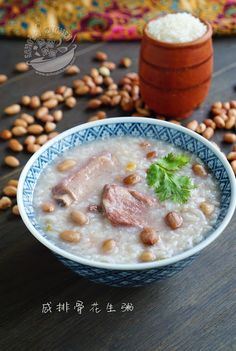 A taste of memories -- Echo's Kitchen: 【咸排骨花生粥】Salted Ribs and Peanut Congee
