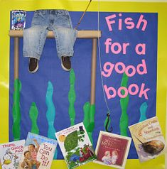 "How cute! So many things you can do with this. If you have a bigger bulletin board you could include several pairs of pants. Then say, ""We've gone fishing for..."" and the possibilities are endless. Adjectives, good behavior, character traits, etc."
