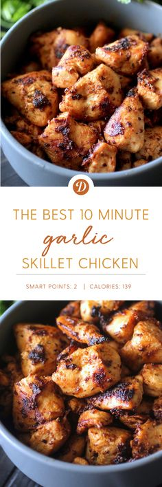 The Best 10-Minute Garlic Skillet Chicken