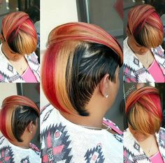 Hairstyles color highlights cute cuts 63 ideas for 2019 Copper Blonde, Golden Blonde, Dope Hairstyles, My Hairstyle, Black Hairstyles, Hairstyle Ideas, Razor Chic Of Atlanta, Short Hair Cuts, Short Hair Styles