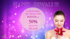 Celebrate this Diwali with a new younger you...   ** Get 50% off on Botox with every Dermal Filler **   Appleskin clinics by Dr Deepti Dhillon wishes everyone a very Happy and safe Diwali !!   www.appleskin.co.in