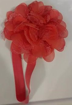 Coral Flower Infant Headband by LilahBea on Etsy