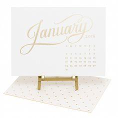 Charmant 2016 Kate Desk Calendar, White