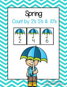Spring Counting by 2's, 5's and 10's.  Includes cards for work stations and an optional worksheet.