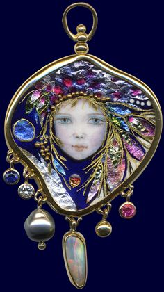 Just discovered these artists today~ WOW. Enamels by Mona and Alex Szabados.