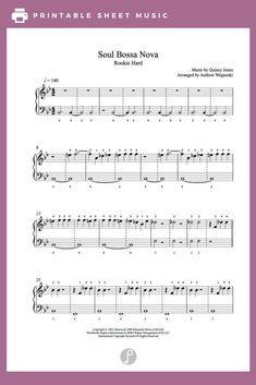 Soul Bossa Nova by Quincy Jones Piano Sheet Music | Rookie Level
