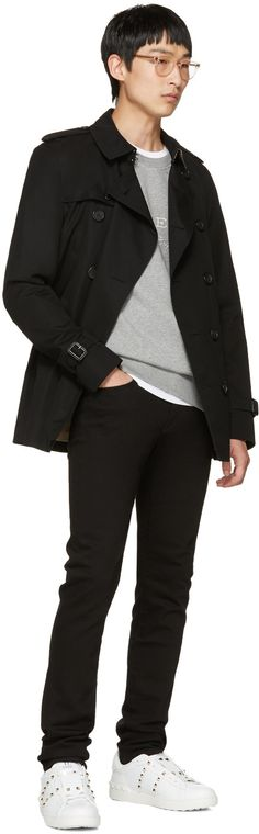 Burberry - Black Sandringham Short Trench Coat