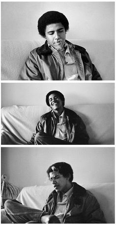 Post with 475 views. Young President Barrack Obama smoking during his college years x Young Michelle Obama, Young Obama, Barak And Michelle Obama, Cinematic Photography, Black Photography, Barrack Obama, Bedroom Wall Collage, Wall Art, Black And White Aesthetic