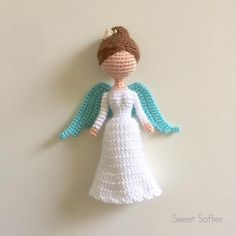 Christmas Angel Amigurumi Crochet Doll Pattern  Customizable