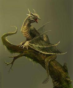 Woodland Guardian Dragon Familiar #dragon