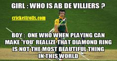 This is AB... Cricket Sport, Cricket News, Ab De Villiers, Define Success, Just A Game, Lol So True, Stupid Funny Memes, Just Love, In This World