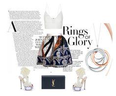 """bronze"" by gamzealpaydin ❤ liked on Polyvore featuring Tiffany & Co., Joana Almagro, Fendi, Narciso Rodriguez, Yves Saint Laurent, summerstyle, fendi, summerdate, summerloves and summer2016"